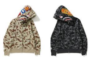 聯名之外不可忘本!Bape 再次推出經典「鯊魚頭全拉鍊」外套!