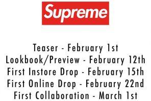 Supreme 準備回歸了!2018 春夏系列啟售時程公布!
