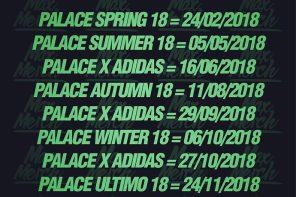 Palace Skateboards 2018 販售時間計畫全公佈!