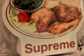Supreme 春夏新品揭露!這設計直接把菜單印成 TEE…?