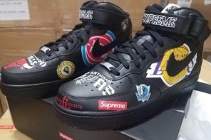 Supreme x Nike Air Force 1 真的長這樣!又是靠 LOGO 撐場!