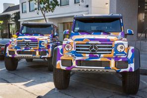潮人必備座駕?洛杉磯街頭驚見 BAPE 迷彩烤漆賓士「G-Class」!