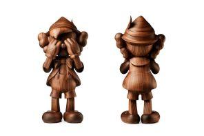 KAWS x Disney 木造版「PINOCCHIO」公仔全球限量 100 隻登場!